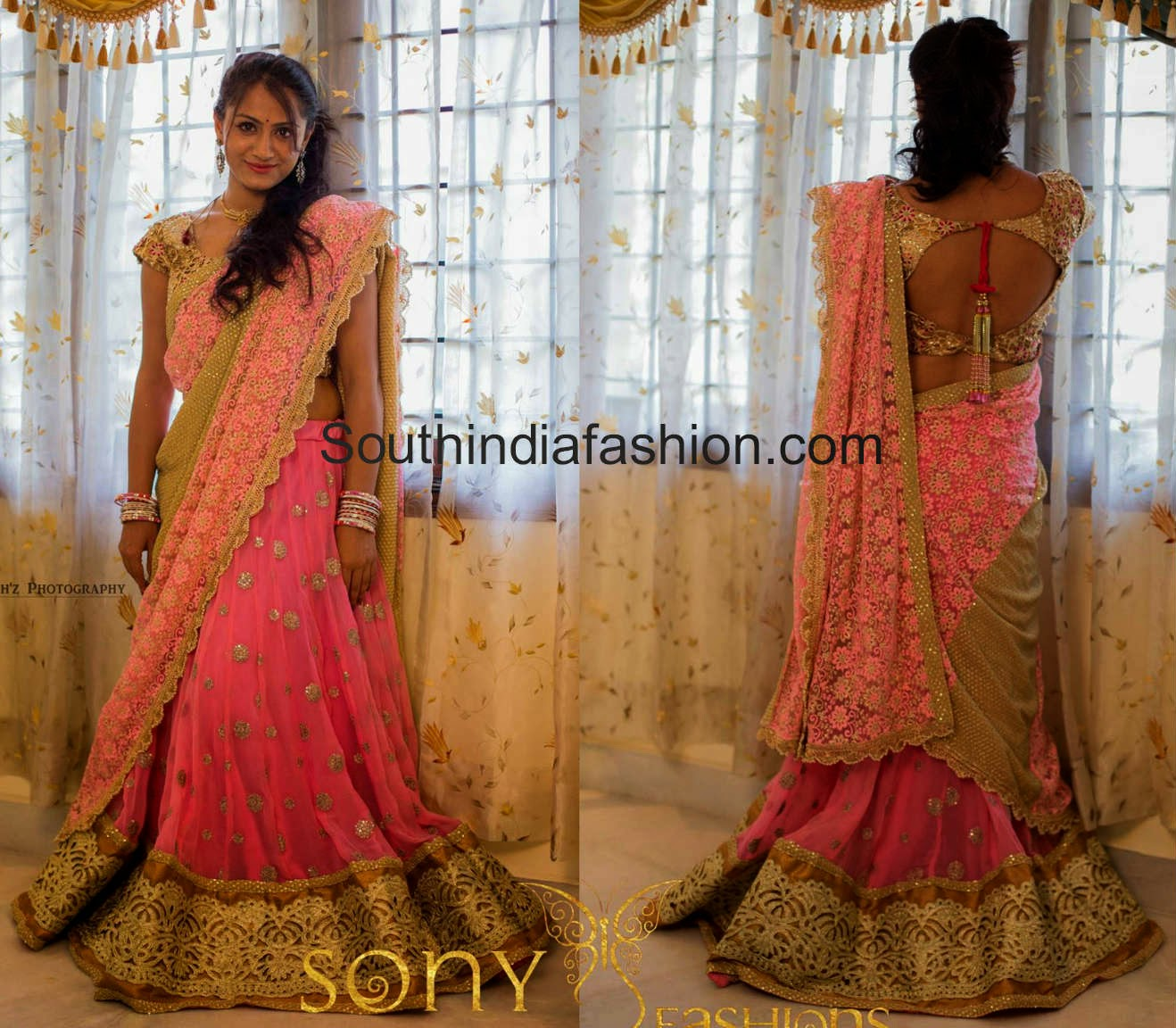 bridal south indian half sarees