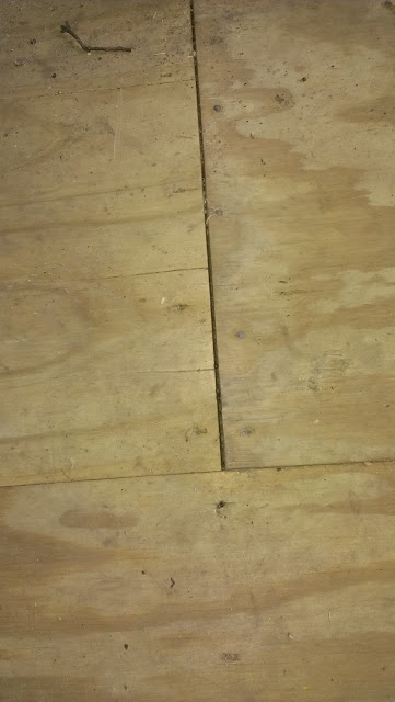 Staggered subfloor.