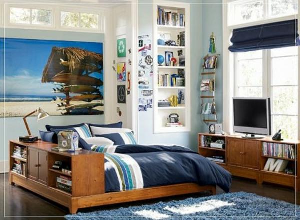 Un dormitorio surf dormitorios con estilo - Decoracion habitacion juvenil masculina ...