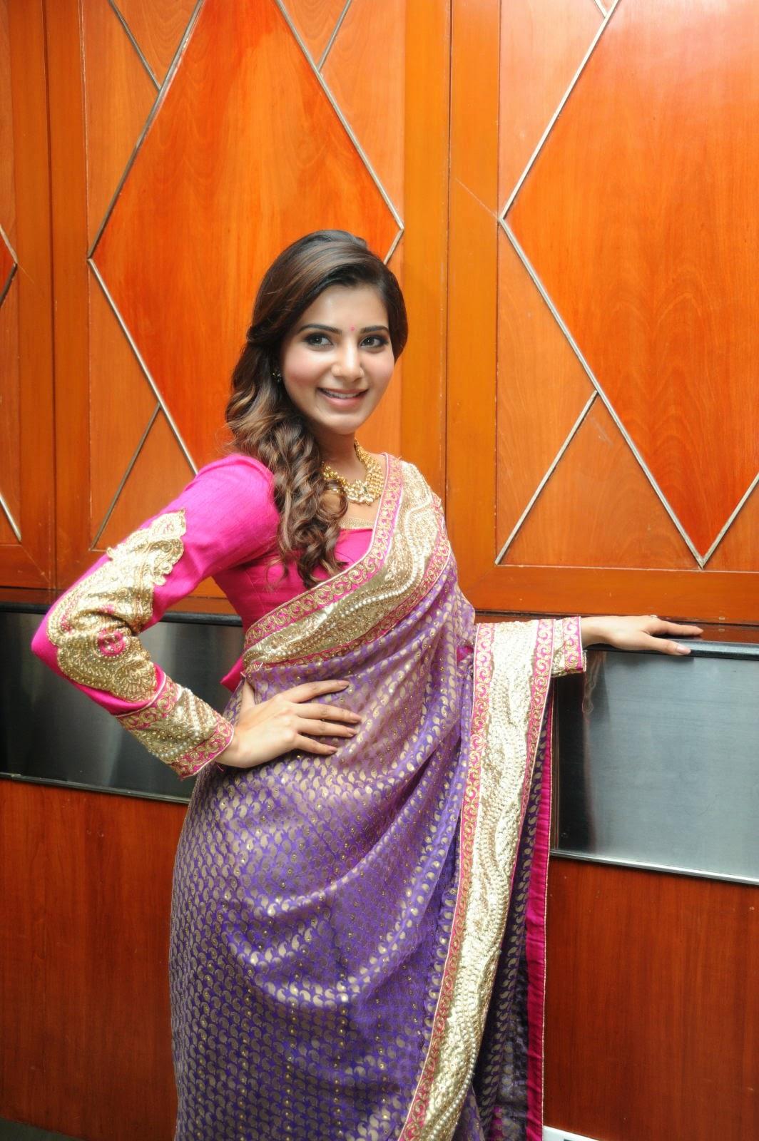Samantha gorgeous photos in saree-HQ-Photo-14