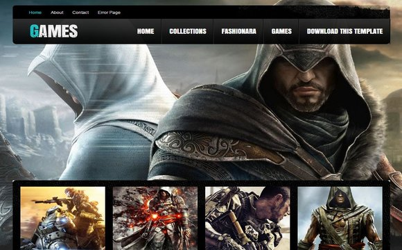 Games Blogger Template | High Quality Free Blogger Templates
