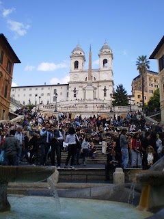 The spanish steps, or Scalinata della Trinità dei Monti, Rome - How to see Rome in a hurry, our Two day sightseeing whirlwind!