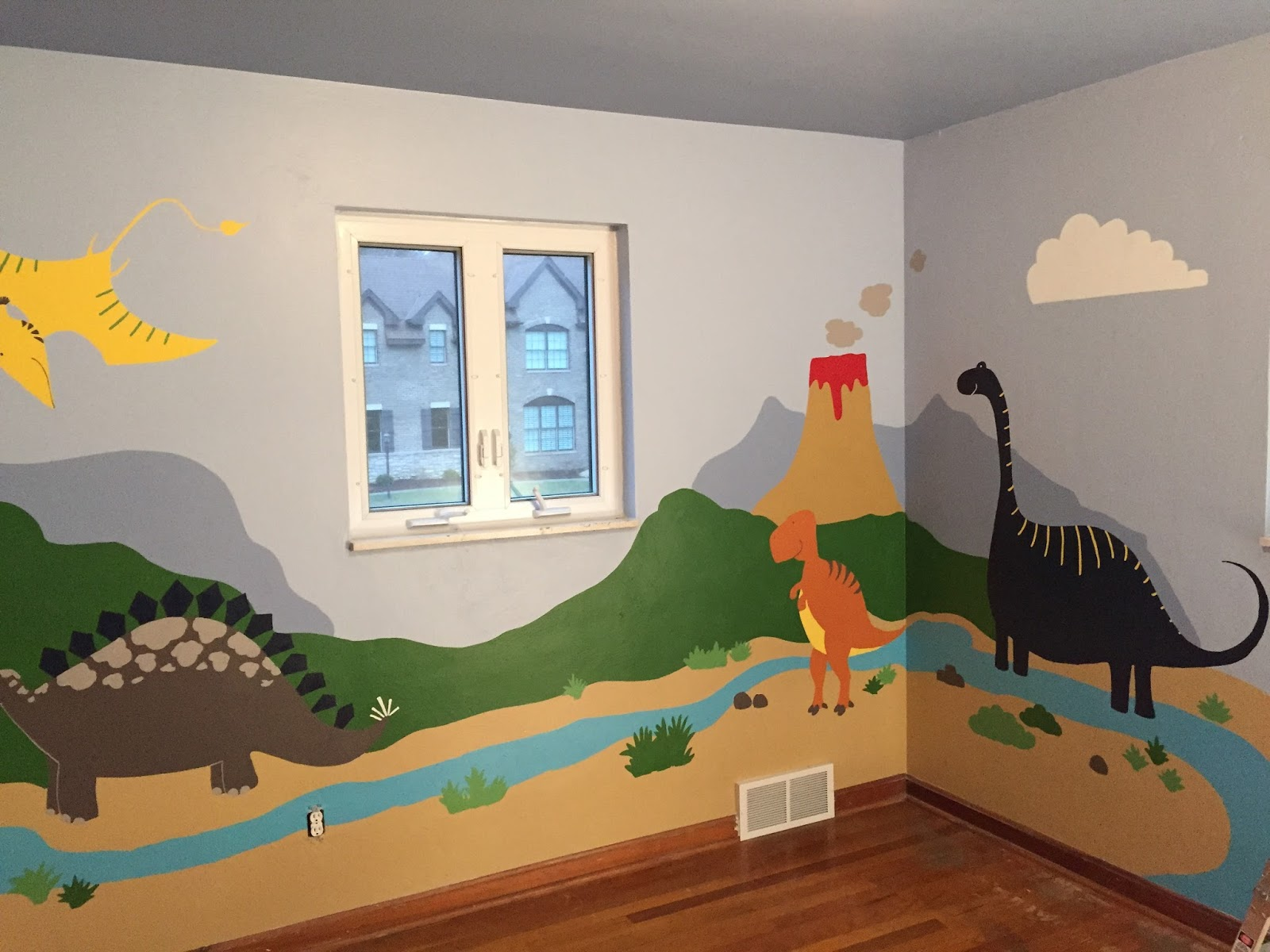 Image gallery dinosaur room for Dinosaur themed kids room