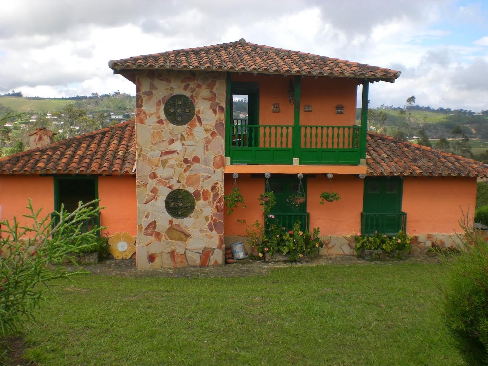 Decoracion actual de moda fachadas de casas de campo - Jardines en casas de campo ...
