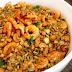 Receita de risoto integral de camarão ao coco com castanha de caju.