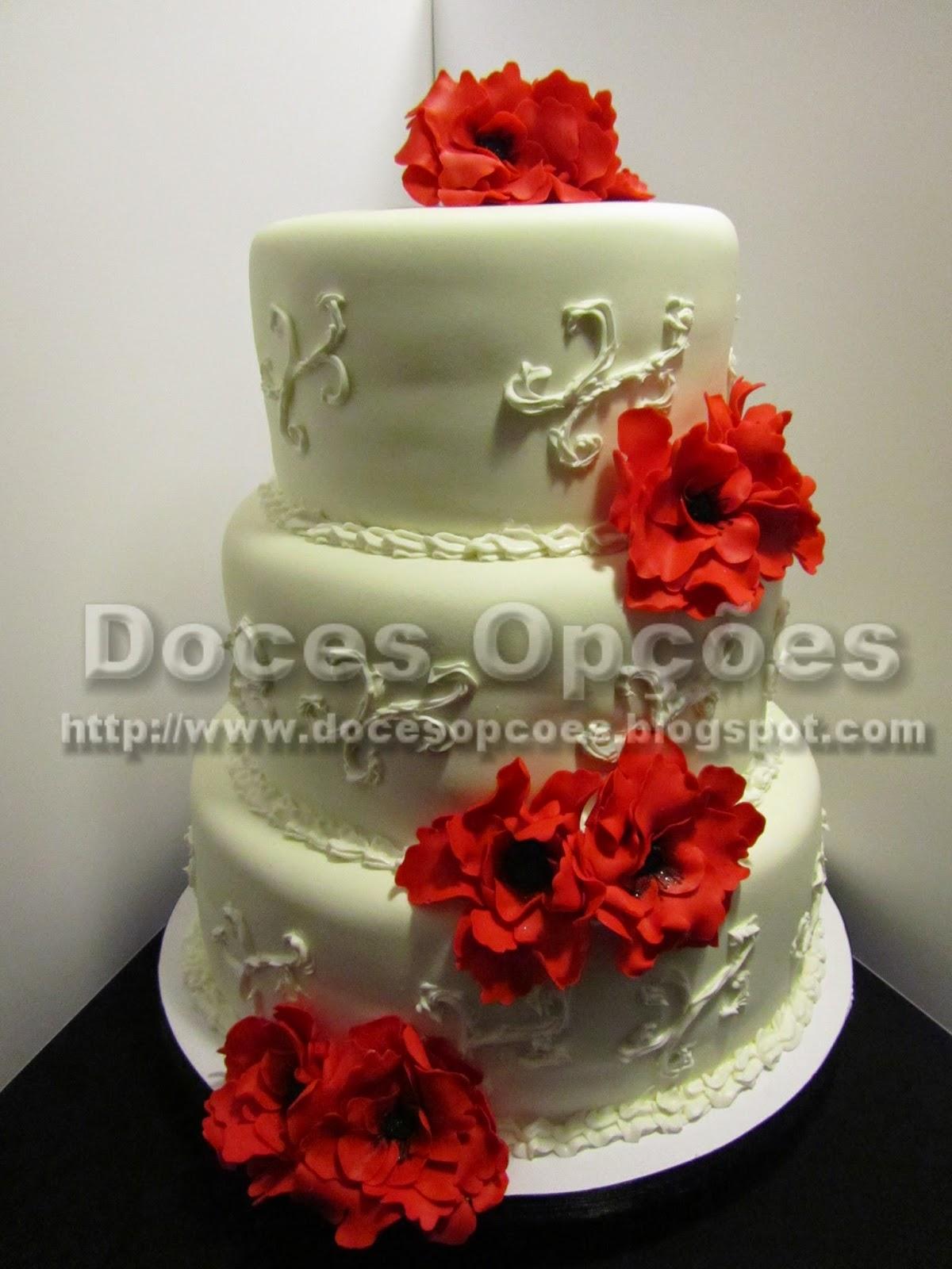 bolo casamento flores pasta açucar