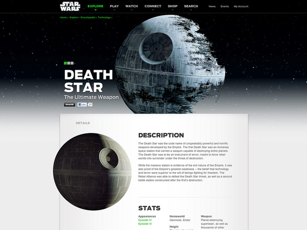 Star Wars: A Universe for a universe. Big Spaceship