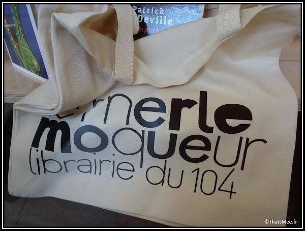 Librairie Le Merle Moqueur CentQuatre 104 Paris 19ème ou Paris 20eme rue bagnolet Tote bag sac en toile