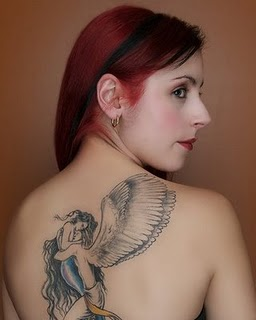 Beautiful Angel Tattoo Design on Back body