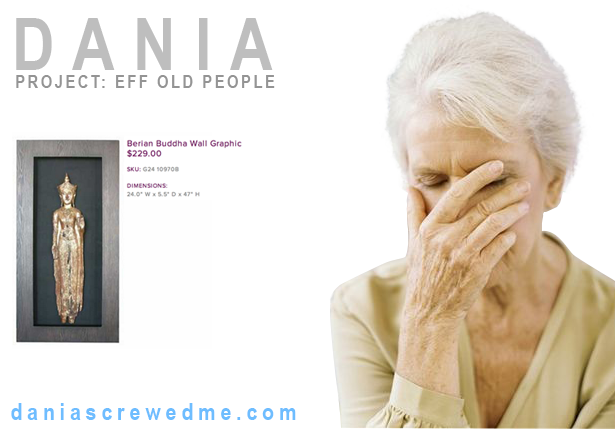 elder woman crying, presumably because she made an awful dania shopping decision