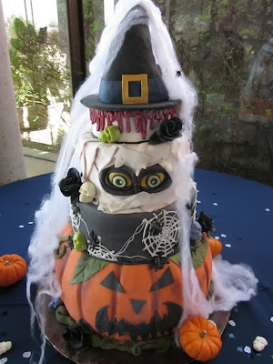 wedding cake, halloween wedding cake, theme cakes