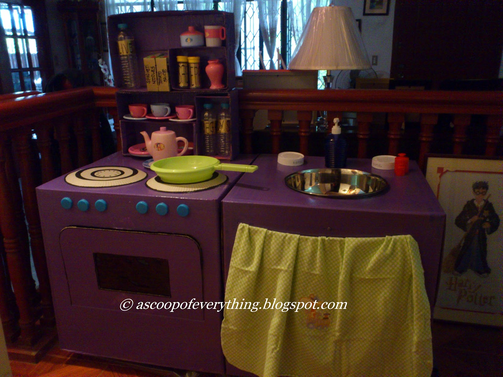 How To Make Play Kitchen CardBoard