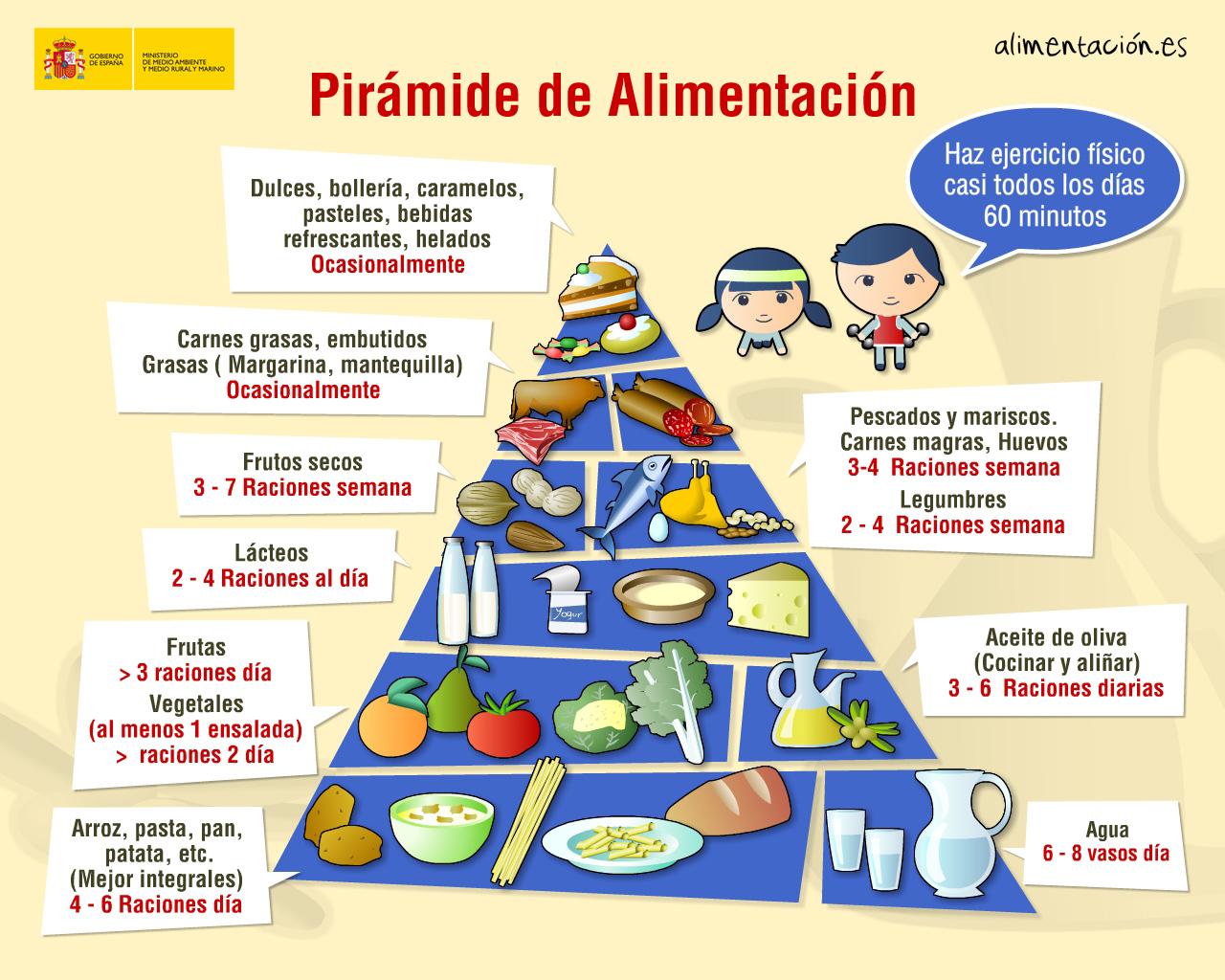 La gu a de nutrici n pir mide alimenticia i - Piramides de alimentos saludables ...