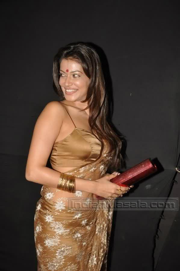 Payal Rohatgi erotic saree sexposure at Mirchi Music Awards