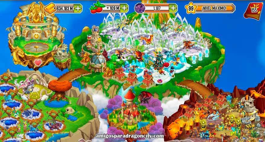 imagen de la isla del castillo rapida de dragon city