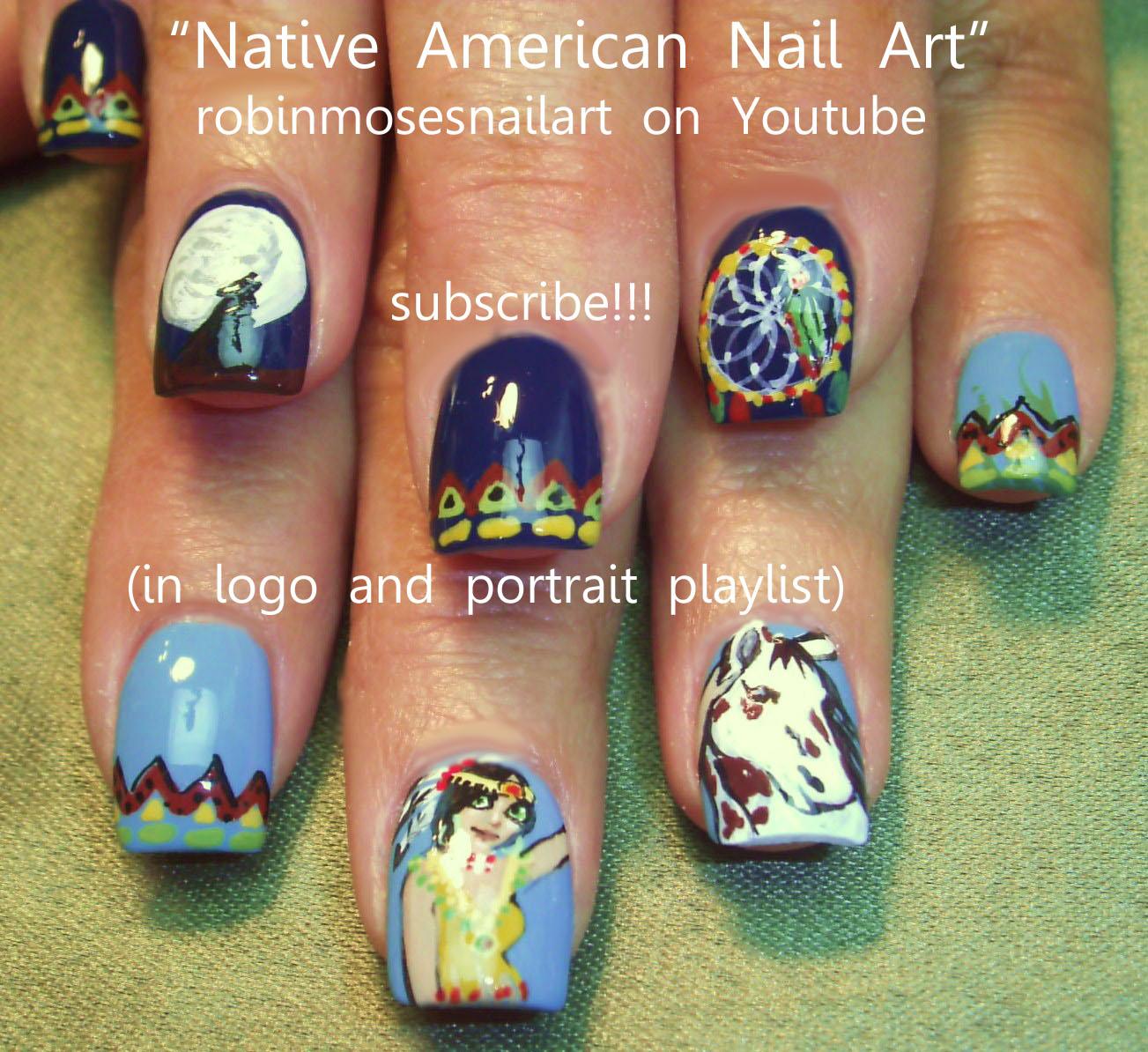 Robin moses nail art native american nails horse nails native american nail art 760 miss pro nail prinsesfo Images