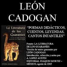 León Cádogan y sus poemas didácticos