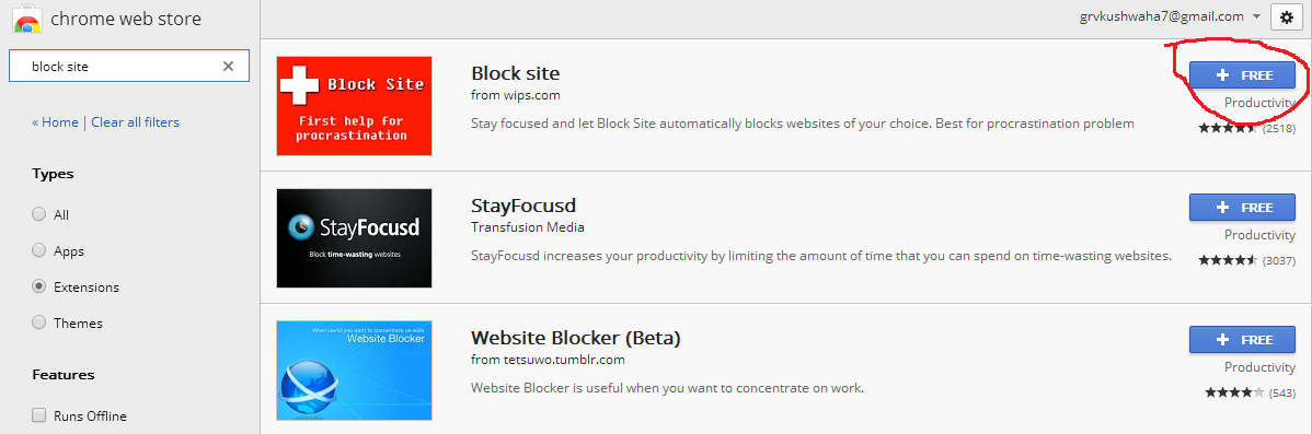 block websites on computer network