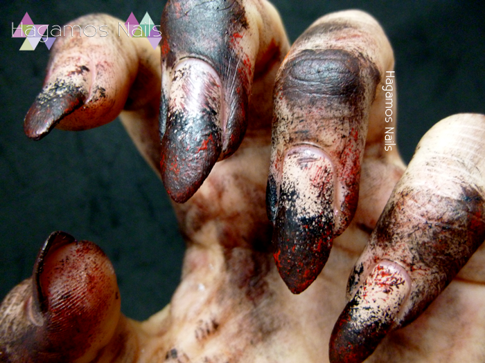 Nail Art Zombie. Hagamos Nails