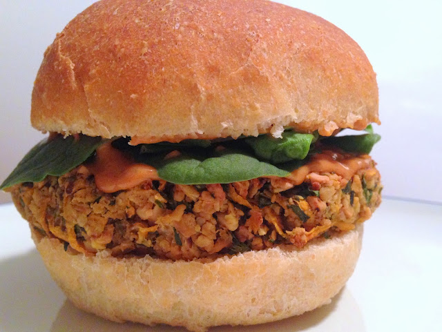 Thai Sweet Potato Veggie Burgers with Peanut Sauce