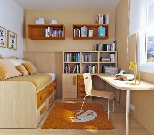 picture of modern minimalist small bedroom furniture arrangement idea