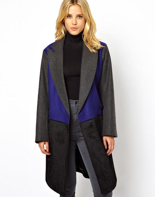 colourblock coat