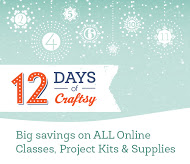 For 12 days, you can shop up to 50% off at Craftsy for your favorite hobby