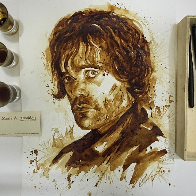 05-Tyrion-Lannister-GoT-Maria-A-Aristidou-Pop-Culture-Painted-with-Coffee-www-designstack-co