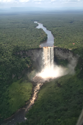 Beautiful Scenic Waterfall Kaieteur Falls Guyana