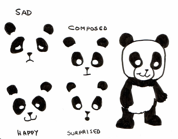 Cartoon Panda Sketches