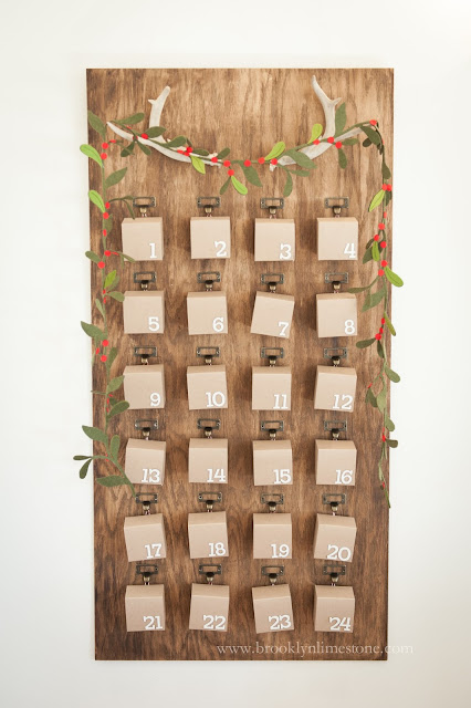 creative diy advent calendars - rustic and woodsy by BrooklynLimestone.com