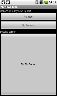 ViewFlipper with Animation