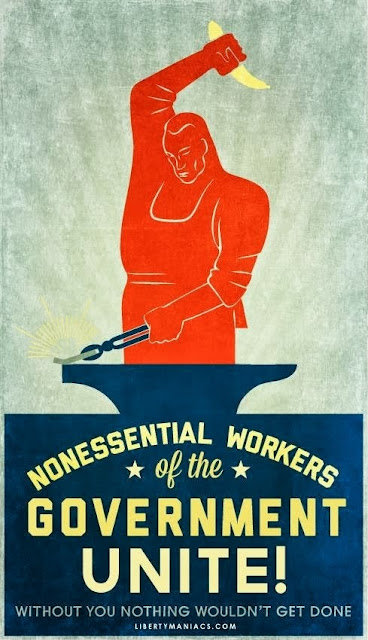 ... Whited Sepulchre: Non-Essential Government Workers Of The World, UNITE