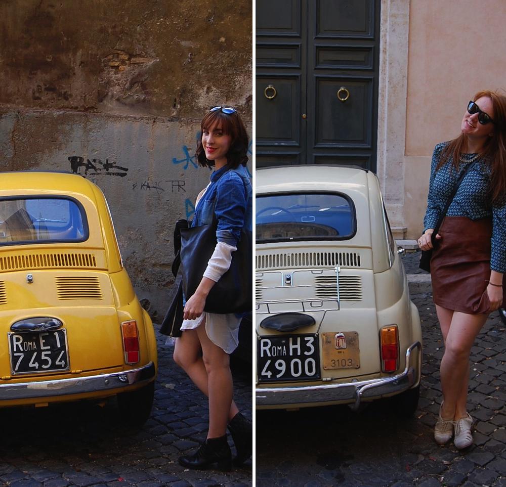 fiat rome italy car vintage