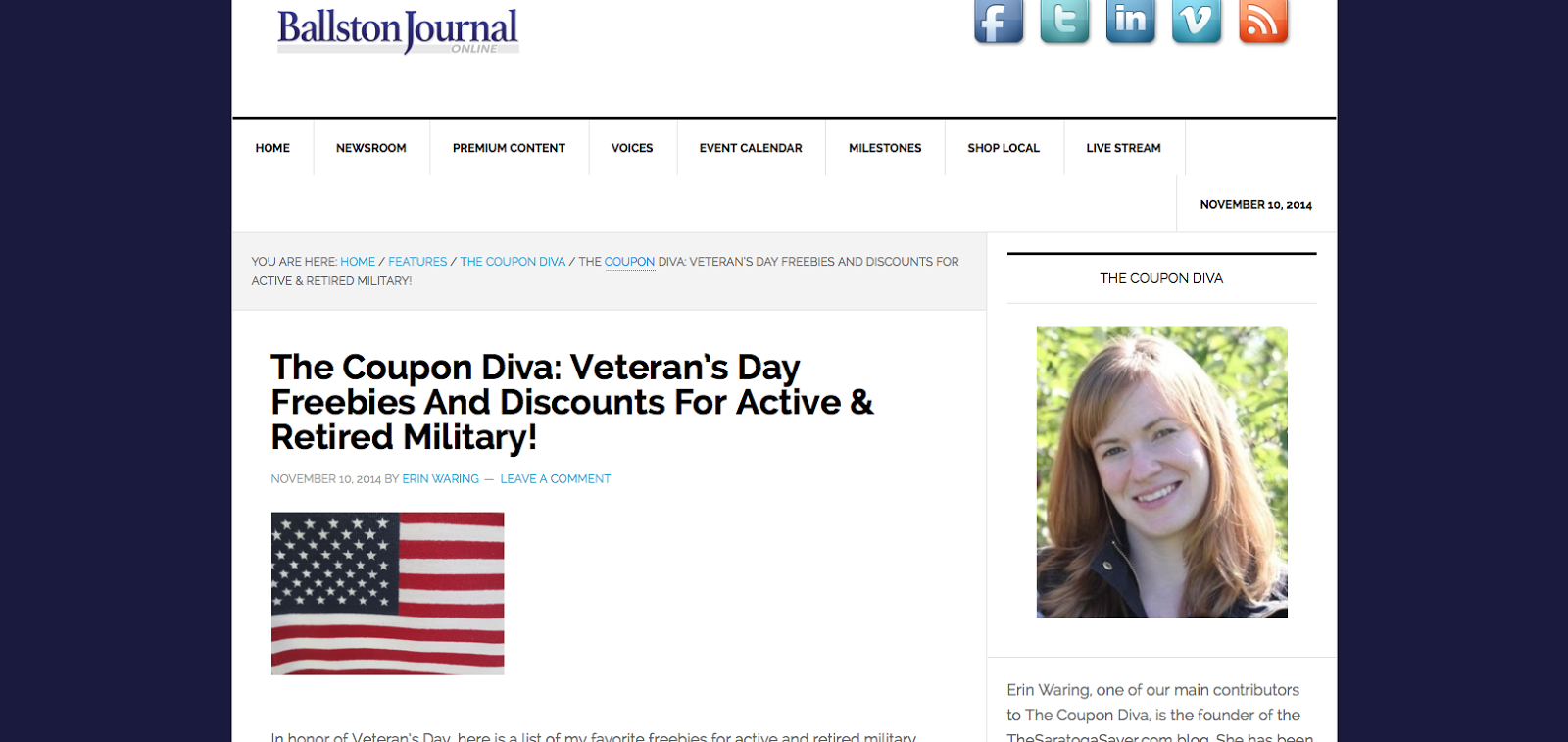 http://theballstonjournal.com/2014/11/10/coupon-diva-veterans-day-freebies-discounts-active-retired-military/