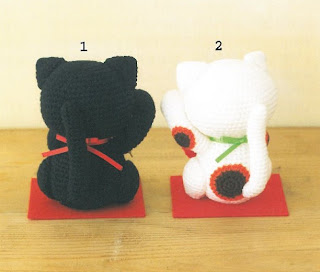 Maneki Neko Amigurumi Patron : Amigurumi 2 Maneki Neko Lucky Plush Crochet Pattern PDF ...