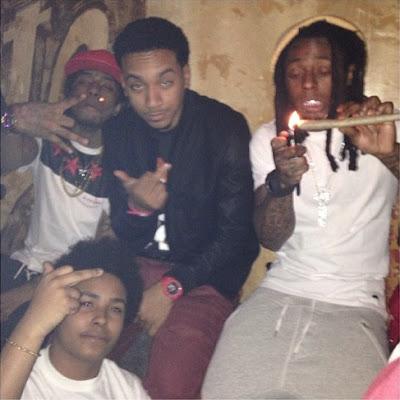 fotos de Lil Wayne Birdman Young Thug Mack Maine 2 Chainz Diddy Euro Flow JaSoRude YoYo Drake Dj Stevie J Santi Rubirosa y Cortez Bryant de fiesta despues all star nueva orleans club jax brewery  title=
