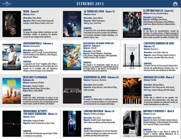 Estrenos-cine-Universal-Paramount-Pictures-2015
