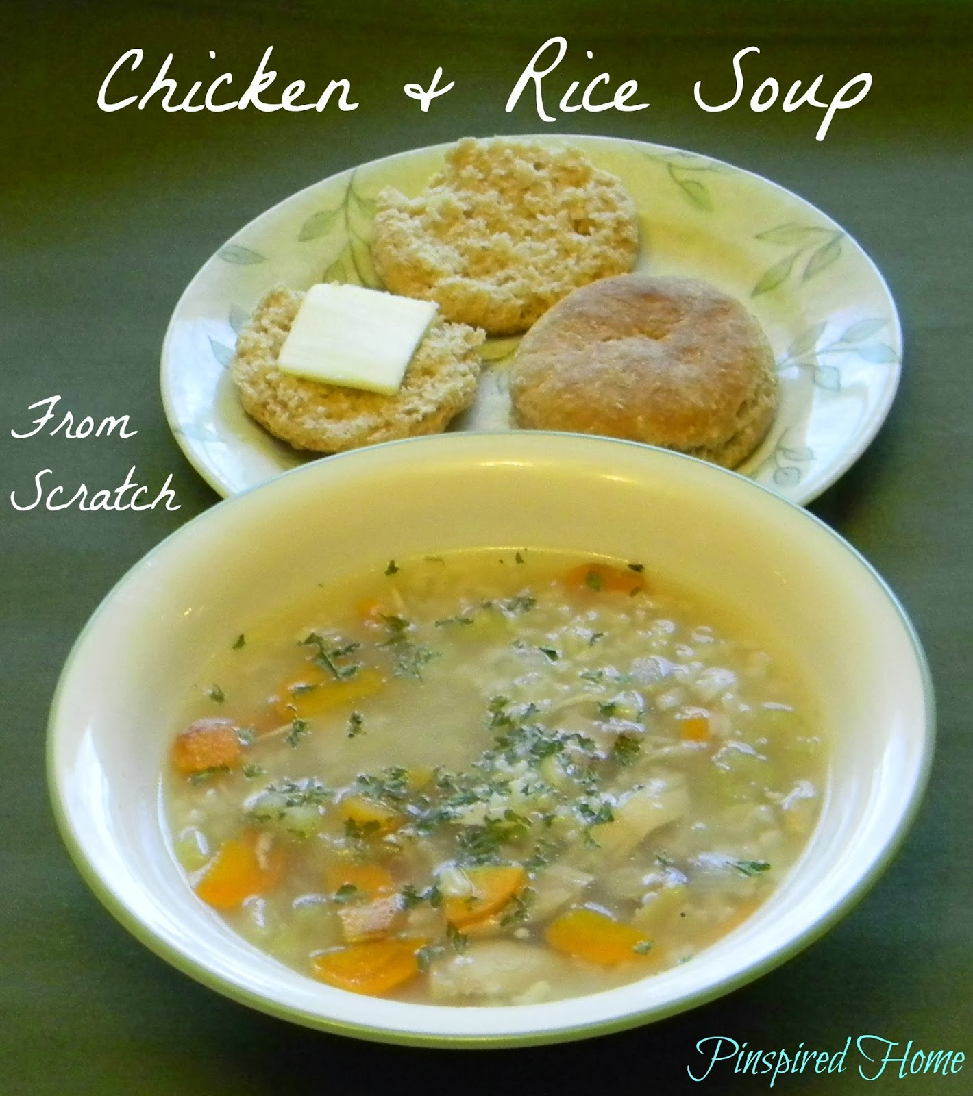 http://pinspiredhome.blogspot.com/2013/11/chicken-and-rice-soup-from-scratch.html