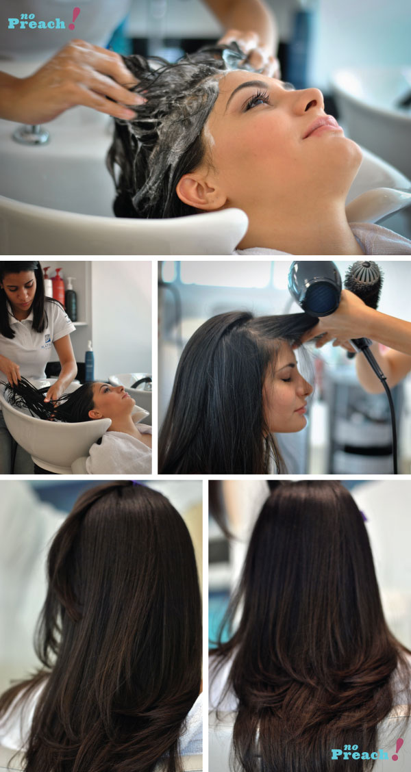 Terapia capilar Lanza - hidratação profunda - salão platinum visage