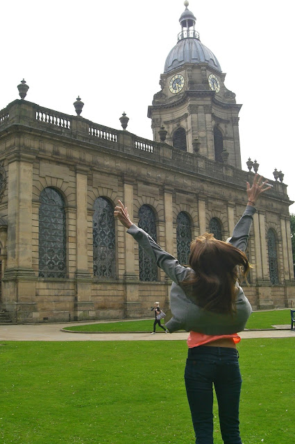 jumping for joy in birmingham england