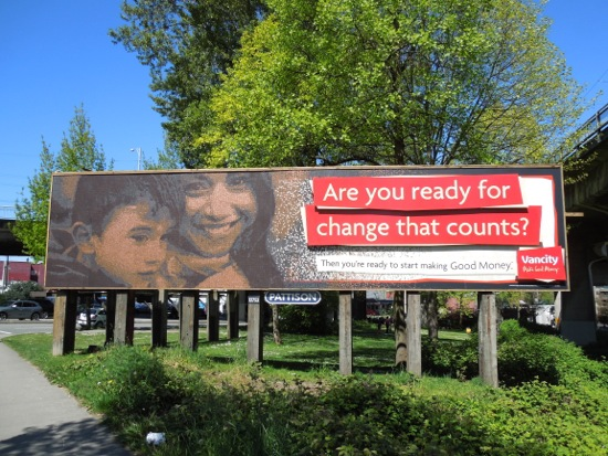 Vancity penny billboard Vancouver