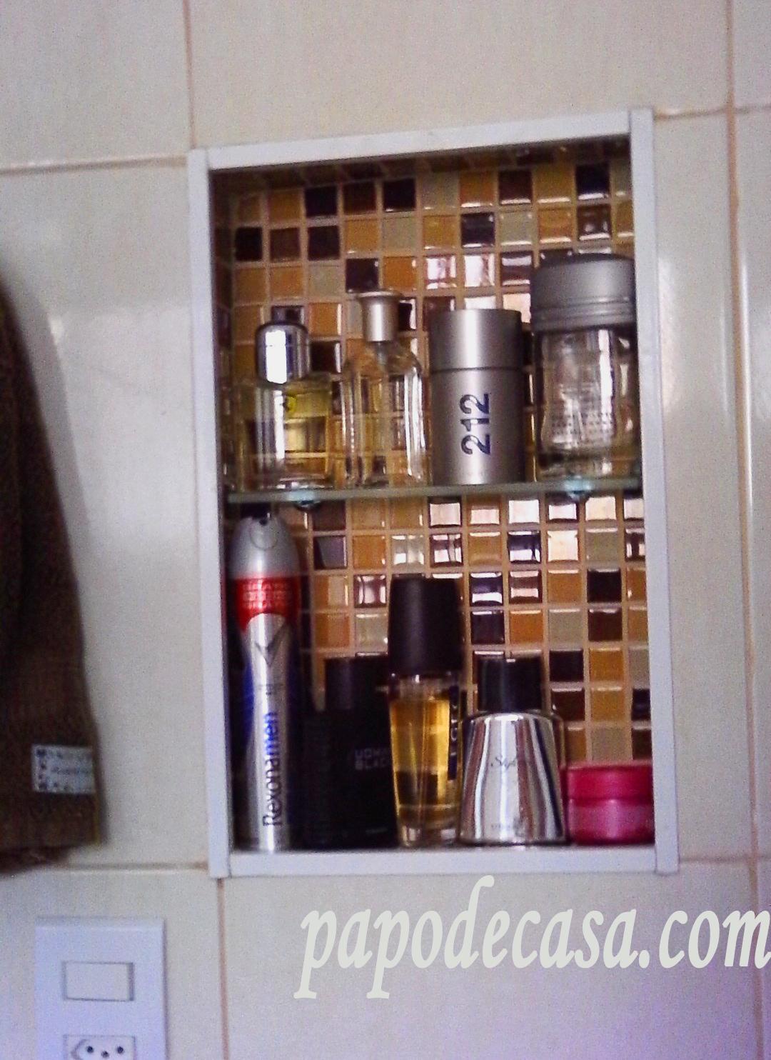Papo de Casa: Nichos de pastilha no banheiro #6C4033 1080 1484
