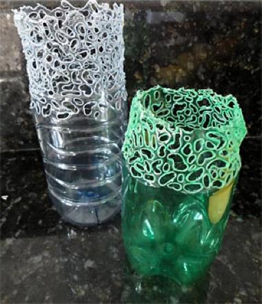 Вазы из бутылок фото пластиковых
