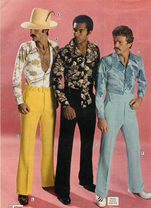 Immagini abbigliamento uomo anni 70
