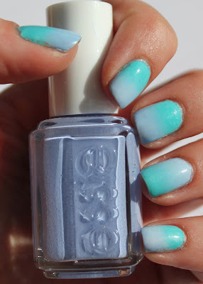 Gradient nails with Essie Bikini So Teeny