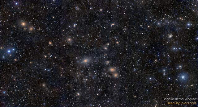 Hình ảnh Cụm thiên hà Virgo. Tác giả : Rogelio Bernal Andreo.