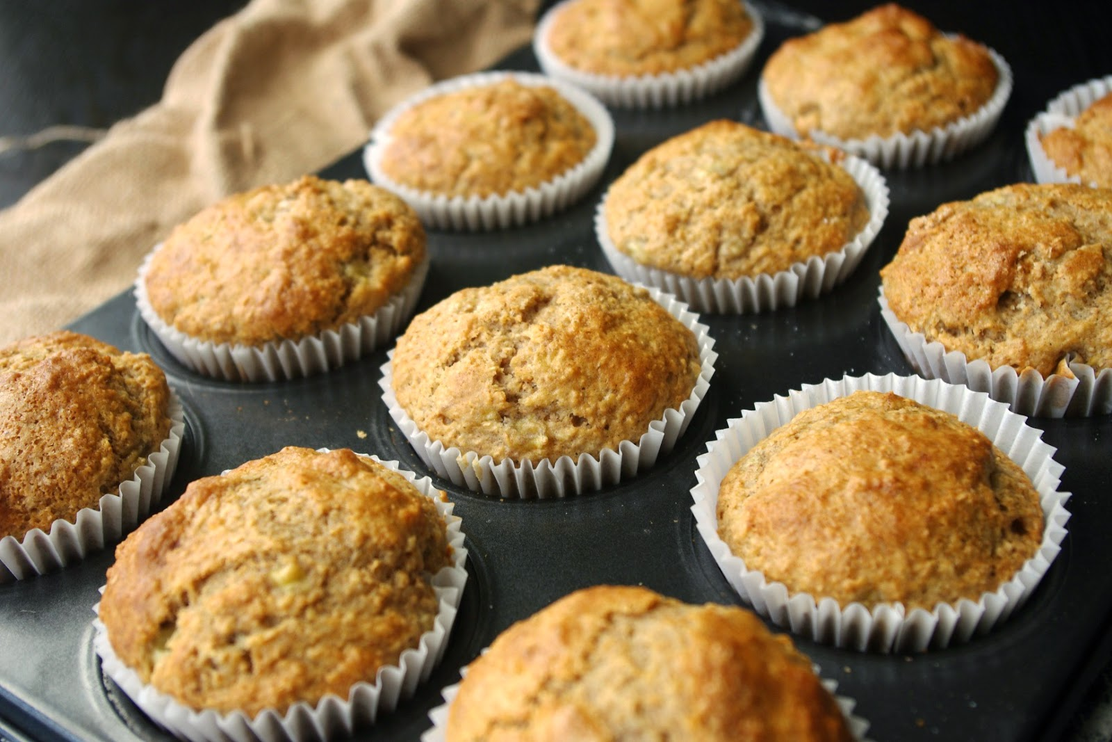 Banana, maple syrup and cinnamon muffins photo