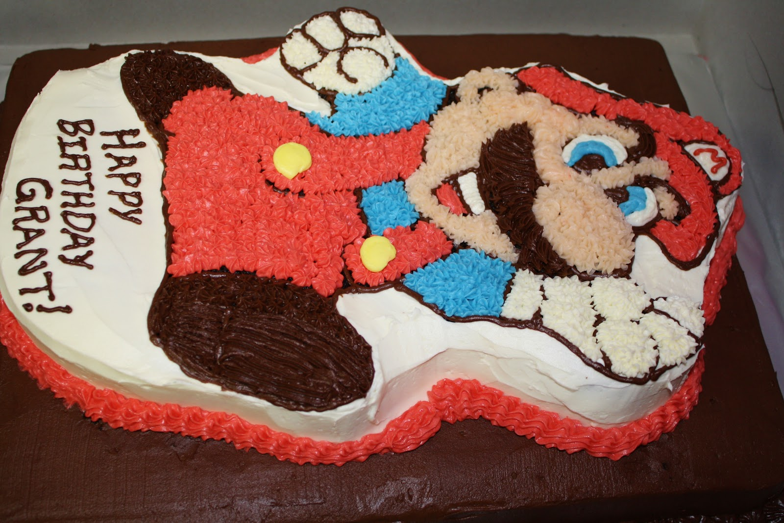 Burn Me Not Mario Bros Chocolate Cake