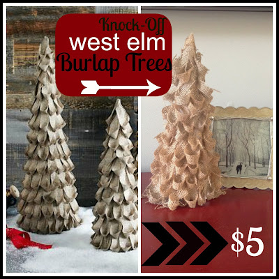 http://www.twoityourself.blogspot.com/2013/11/diy-west-elm-burlap-christmas-tree.html